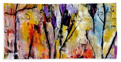 Crazy Messy Fall Yard Art Bath Towel