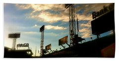 Bath Towel featuring the photograph  Fenway Lights Fenway Park David Pucciarelli  by Iconic Images Art Gallery David Pucciarelli