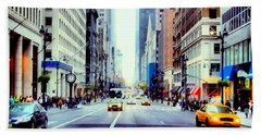 Fifth Avenue In Manhattan  Hand Towel