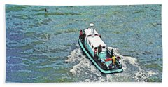 Fishing Boat In San Francisco Bay Hand Towel