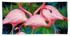 Flamingo Hand Towel by Mark Ashkenazi