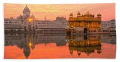 Hand Towel featuring the photograph  Golden Temple by Luciano Mortula