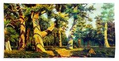 Green Summer-the Oak Forest Bath Towel