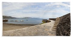Harbour Wall Lyme Bay Dorset Hand Towel