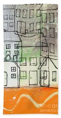 Houses By The River Hand Towel