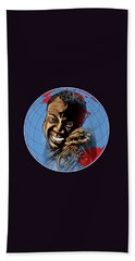 Hand Towel featuring the painting  Louis. by Andrzej Szczerski