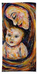 Mother's Love Hand Towel by Natalie Holland