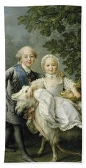 Portrait Of Charles Philippe Of France And His Sister Marie Adelaide Bath Towel