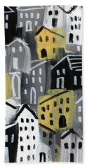 Rainy Day - Expressionist Art Hand Towel