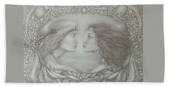Spring Lovers With Snowdrops Bath Towel by Rita Fetisov