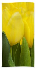Spring Yellow Tulips Bath Towel