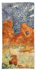 Starry Night In The Desert Hand Towel