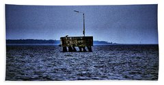 Hand Towel featuring the photograph  The Dock Of Loneliness by Jouko Lehto