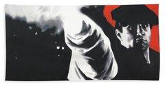 - The Godfather - Bath Towel by Luis Ludzska