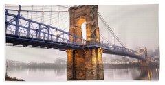 The Roebling Bridge Hand Towel