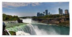 004 Niagara Falls  Bath Towel by Michael Frank Jr