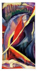 Bath Towel featuring the painting 01355 Hot by AnneKarin Glass
