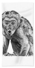 057 Madhula The Monkey Bath Towel by Abbey Noelle