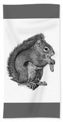 058 Sweeney The Squirrel Bath Towel by Abbey Noelle