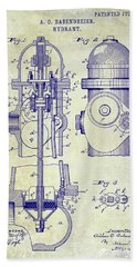 1903 Fire Hydrant Patent Bath Towel