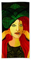 1903 - Sweet Girl With Ozean Colored  Eyes 2017 Hand Towel by Irmgard Schoendorf Welch