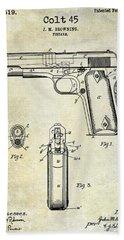1911 Colt 45 Firearm Patent Hand Towel