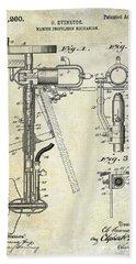 1911 Outboard Boat Motor Patent Bath Towel