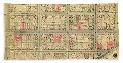 1927 Inwood Map  Bath Towel