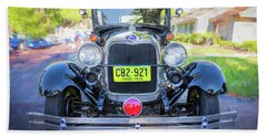 Hand Towel featuring the photograph 1929 Ford Model A Tudor Police Sedan  by Rich Franco