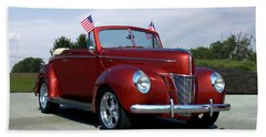1940 Ford Convertible Hand Towel