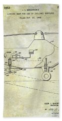 1953 Helicopter Patent Hand Towel