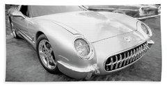 1954 Corvette Nomad Bw Bath Towel by Rich Franco