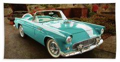 1956 Ford Thunderbird 5510.04 Hand Towel by M K  Miller