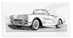 1960 Corvette Hand Towel