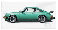 1976 Porsche Euro Carrera 2.7 Illustration Bath Towel