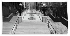 215th Street Stairs Hand Towel