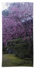 Shidarezakura Mean A Drooping Cherry Tree  Bath Towel