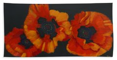 3 Poppies Bath Towel