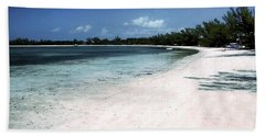 A Horseshoe Beach In The Bahamas Bath Towel