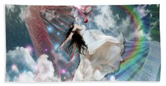 Bath Towel featuring the digital art A New Heart by Dolores Develde