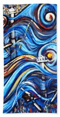 Hand Towel featuring the painting A Ray Of Hope 4 by Harsh Malik