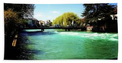 Aare River Bath Towel by Mimulux patricia no No