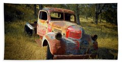 Abandoned Dodge Truck Hand Towel by Frank Wilson