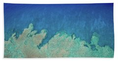 Abstract Aerial Reef Bath Towel