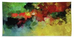 Abstract And Minimalist  Landscape Painting Bath Towel by Ayse Deniz