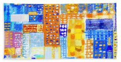 Abstract City Bath Towel