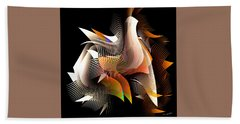 Abstract Peacock Hand Towel