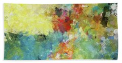 Abstract Seascape Painting Hand Towel by Ayse Deniz