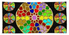 Acrylic Painted Round Colorful Jewel Patterns By Navinjoshi At Fineartamerica.com   Also Available O Bath Towel
