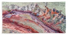 aerial landscape abstract of Colorado foothills Bath Towel